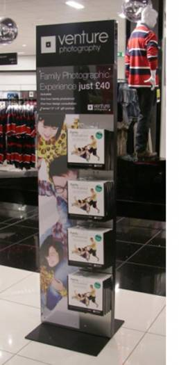 Point of Sale displays Venture Photography