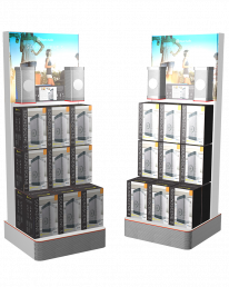 FSDU for Bayan Audio - free standing display units