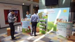 Childs Farm display units for exhibition