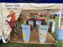 Childs farm bespoke drop bins - trade show stands