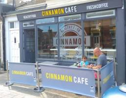 Cinnamon Cafe banners - branded cafe banners