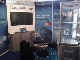 Datacard exhibition display - display screen and cabinet