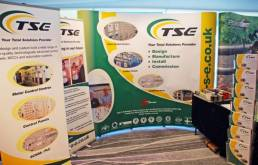 TSE marketing - exhibition stand - display banners trade stand