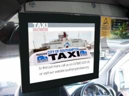 Taxi media player - in vehicle screens