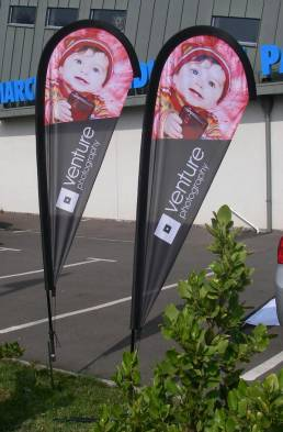 promotional forecourt flags - outdoor advertising
