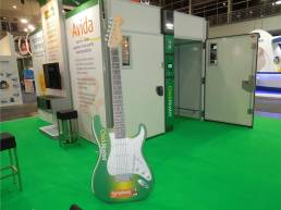 giant guitar for chickmaster tradeshow display