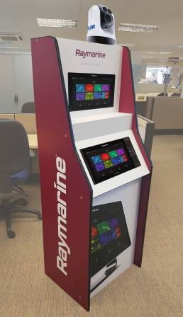 Raymarine FSDU from recyclable products - reboard FSDU, high quality, eco friendly free standing display units
