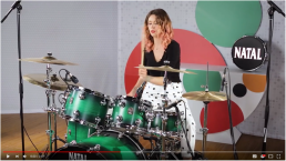 Graphic backdrops for Natal drums