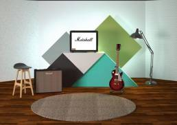 Graphic backdrops for Marshall