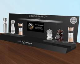 CTU Cole and Mason premium counter top display unit
