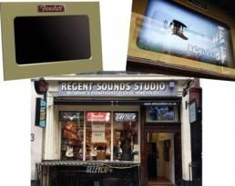 Custom display Regent sounds - high tech screen for retail displays