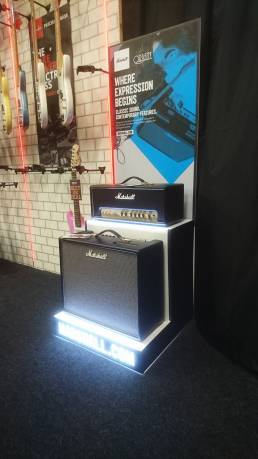 Premium quality LED free standing display unit - FSDU for Marshal Amps - point of purchase, point of sale