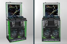 High tech free standing display unit - FSDU for Denon DJ - point of purchase, point of sale