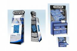 Draper FSDU - free standing display unit - point of purchase