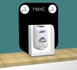 bespoke, customised hand sanitiser stands and stations for coronavirus hand washing