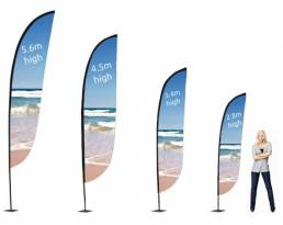 Outdoor advertising flags - display solutions