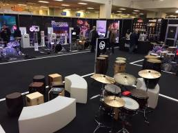 bespoke custom stools for drum retail trade display