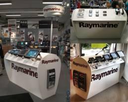 Raymarine Sweden Displays - FSDU trade show exhibition stands