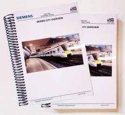 printed training manuals and booklet printing for Siemens
