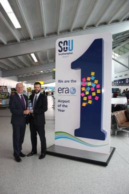 Giant No1 display stand at Southampton Airport