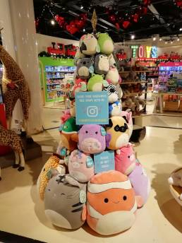 point of purchase instagram display for Squishmallow