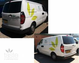Vehicle wraps and graphics for Taste vehicle branding