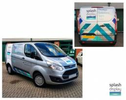 Vehicle wraps and graphics for splash display vehicle branding