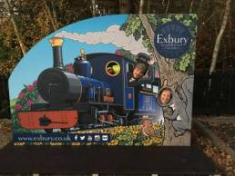 exbury photo opp board