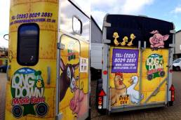 vehicle wraps and graphics for longdown activity farm