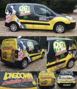 Vehicle wraps and graphics for Longdown Farm van