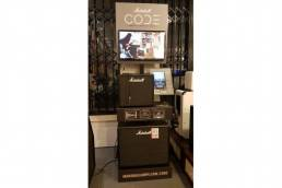 marshall amps Code FSDU - free standing display units design and manufacture