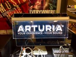 LED signage for Arturia - lightboxes and signs by Splash Display