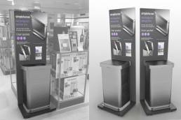 Simplehuman FSDU - free standing display unit - point of purchase