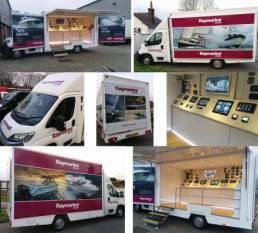 Vehicle wraps and graphics for Raymarine van