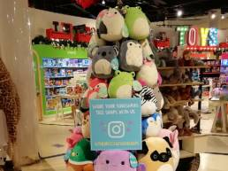 point of purchase instagram display for Squishmallow in Selfridges