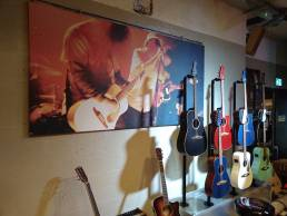 Wall graphics for Fender display