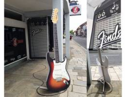 giant fender guitar replica model design and manufacture for marketing and displays