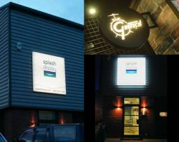 Exterior lightbox signs and signage - bright LED signs