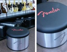 fender branded stools for shops, retail and exhibition displays