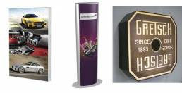 lightboxes to promote and advertise products - wall mounted or floor standing light boxes