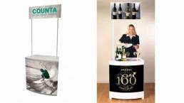 portable counter top display stands - interior or exterior temporary display stand